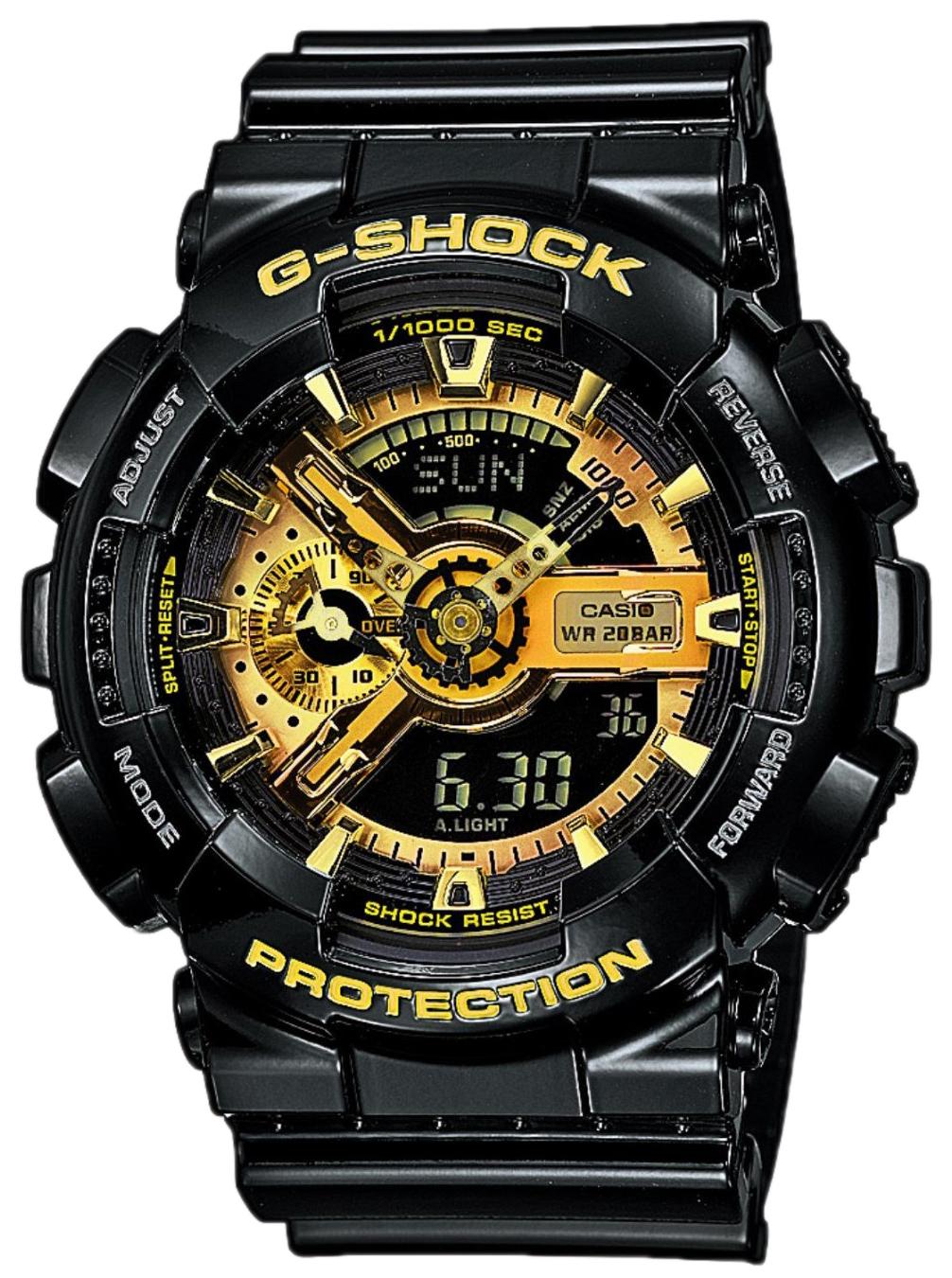 Casio G-Shock Herreklokke GA-110GB-1AER Gulltonet/Resinplast Ø51.2 mm - Casio