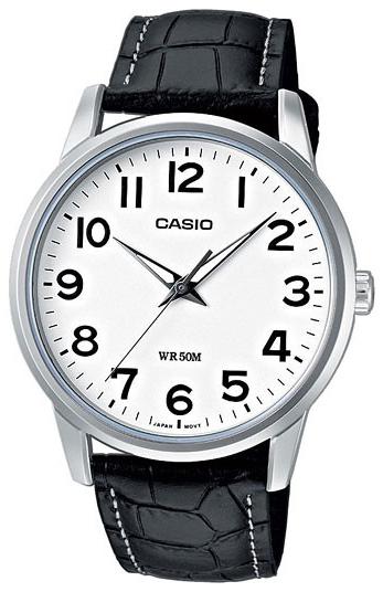 Casio Collection Dameklokke LTP-1303PL-7BVEF Hvit/Lær Ø35.5 mm - Casio