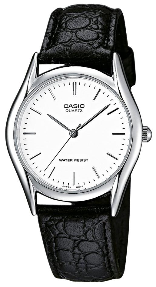 Casio Collection Herreklokke MTP-1154PE-7AEF Hvit/Lær Ø39 mm - Casio