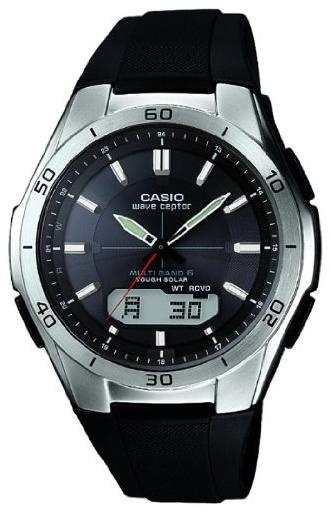 Casio Radio Controlled Herreklokke WVA-M640-1AER Sort/Resinplast Ø44 - Casio