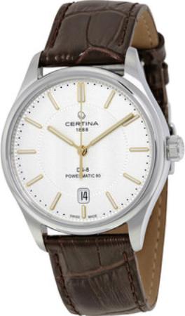 Certina DS 8 Herreklokke C033.407.16.031.00 Sølvfarget/Lær Ø39 mm - Certina