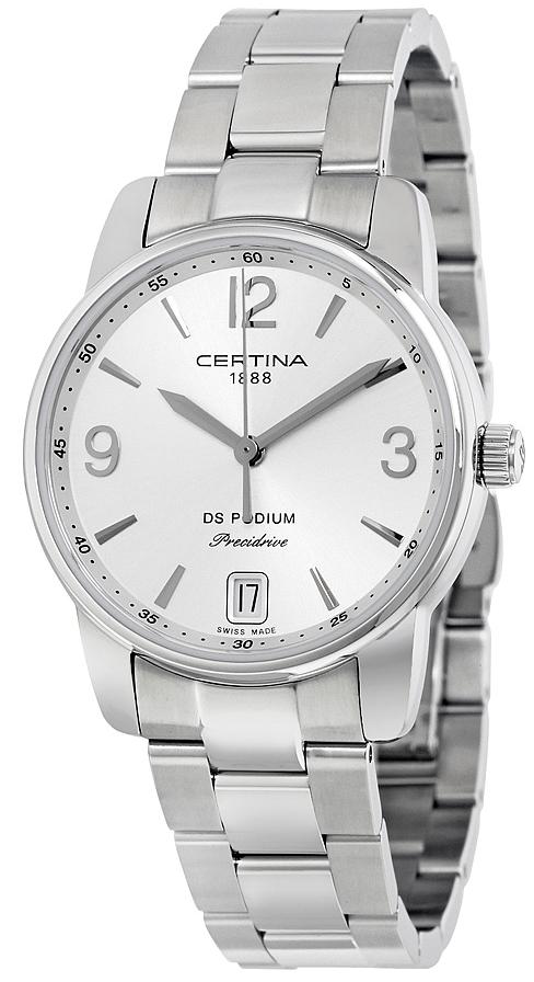 Certina DS Podium Dameklokke C034.210.11.037.00 Sølvfarget/Stål - Certina