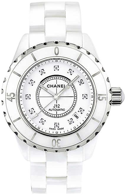 Chanel J12 Dameklokke H1629 Hvit/Keramik Ø38 mm - Chanel