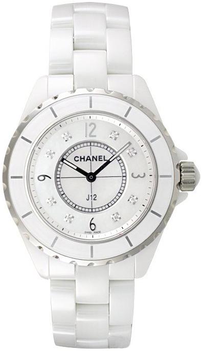 Chanel J12 Dameklokke H3214 Hvit/Keramik Ø38 mm - Chanel