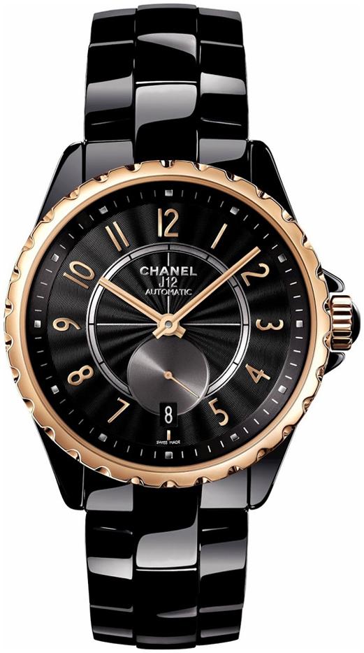 Chanel J12 Dameklokke H3838 Sort/Keramik Ø36.5 mm - Chanel