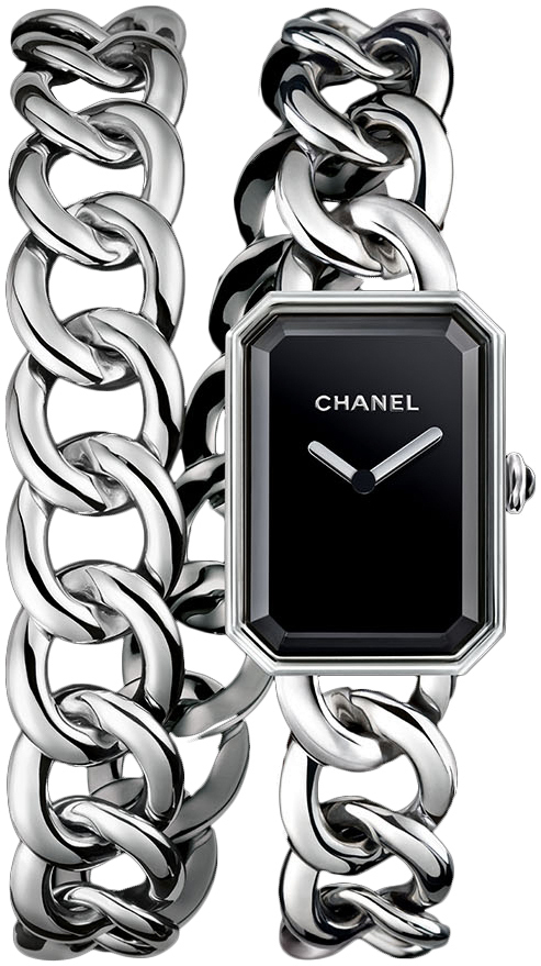 Chanel Premiere Dameklokke H4199 Sort/Stål - Chanel