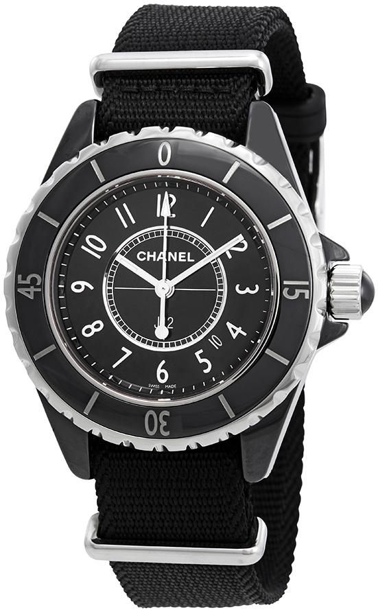 Chanel J12 Dameklokke H4657 Hvit/Tekstil Ø33 mm - Chanel