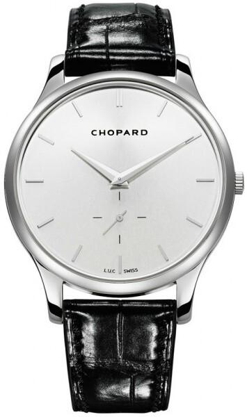 Chopard L.U.C XPS Herreklokke 161920-1004 Sølvfarget/Lær Ø39.5 mm - Chopard