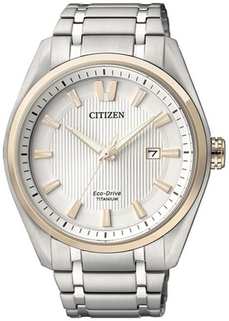 Citizen Titanium Herreklokke AW1244-56A Hvit/Titan Ø42 mm - Citizen