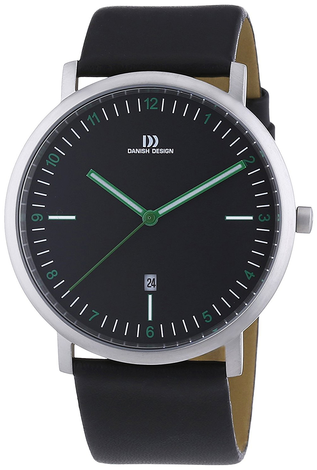 Danish Design Dress Herreklokke 3314464 Sort/Lær Ø42 mm - Danish Design