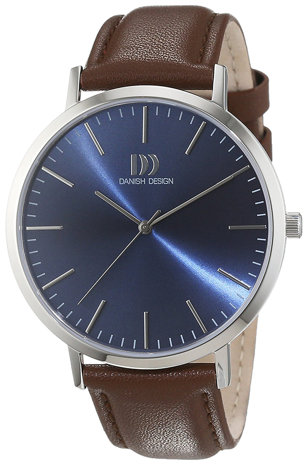 Danish Design Classic Herreklokke 3314509 Blå/Lær Ø42 mm - Danish Design