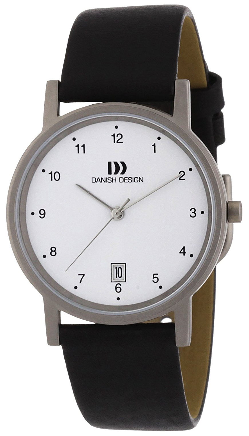 Danish Design Classic Herreklokke 3316033 Hvit/Lær Ø35 mm - Danish Design