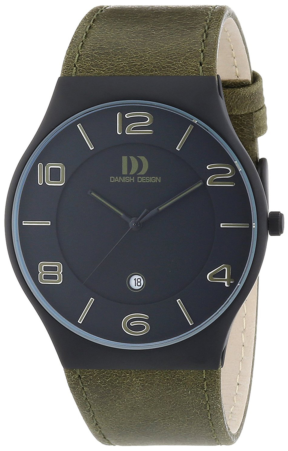 Danish Design Dress Herreklokke 3316331 Sort/Lær Ø42 mm - Danish Design