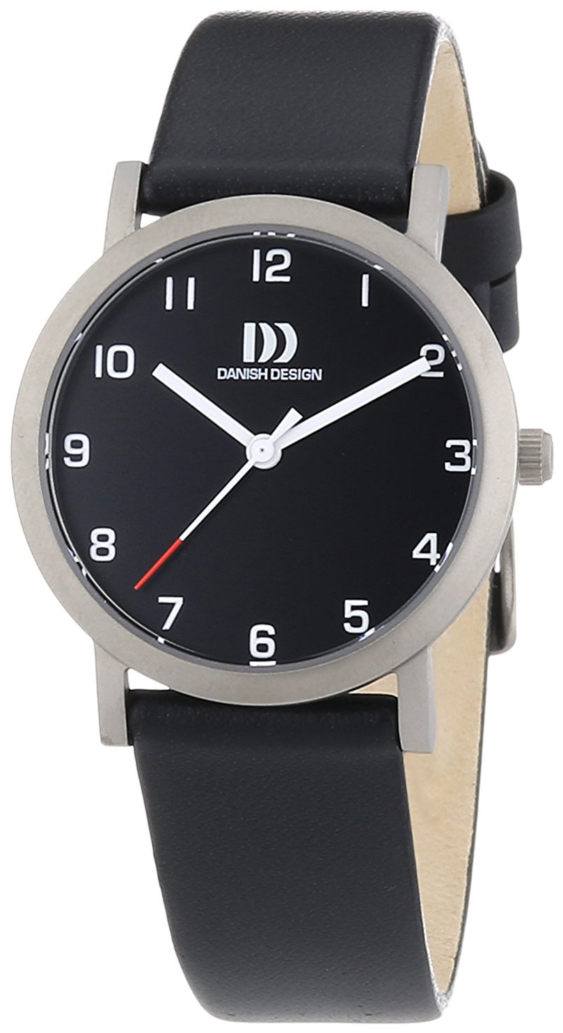 Danish Design Classic Dameklokke 3326601 Sort/Lær Ø30 mm - Danish Design