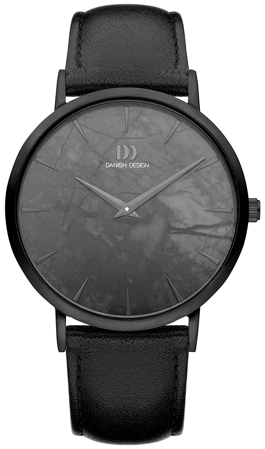 Danish Design Dress Herreklokke IQ53Q1217 Sort/Lær Ø40 mm - Danish Design