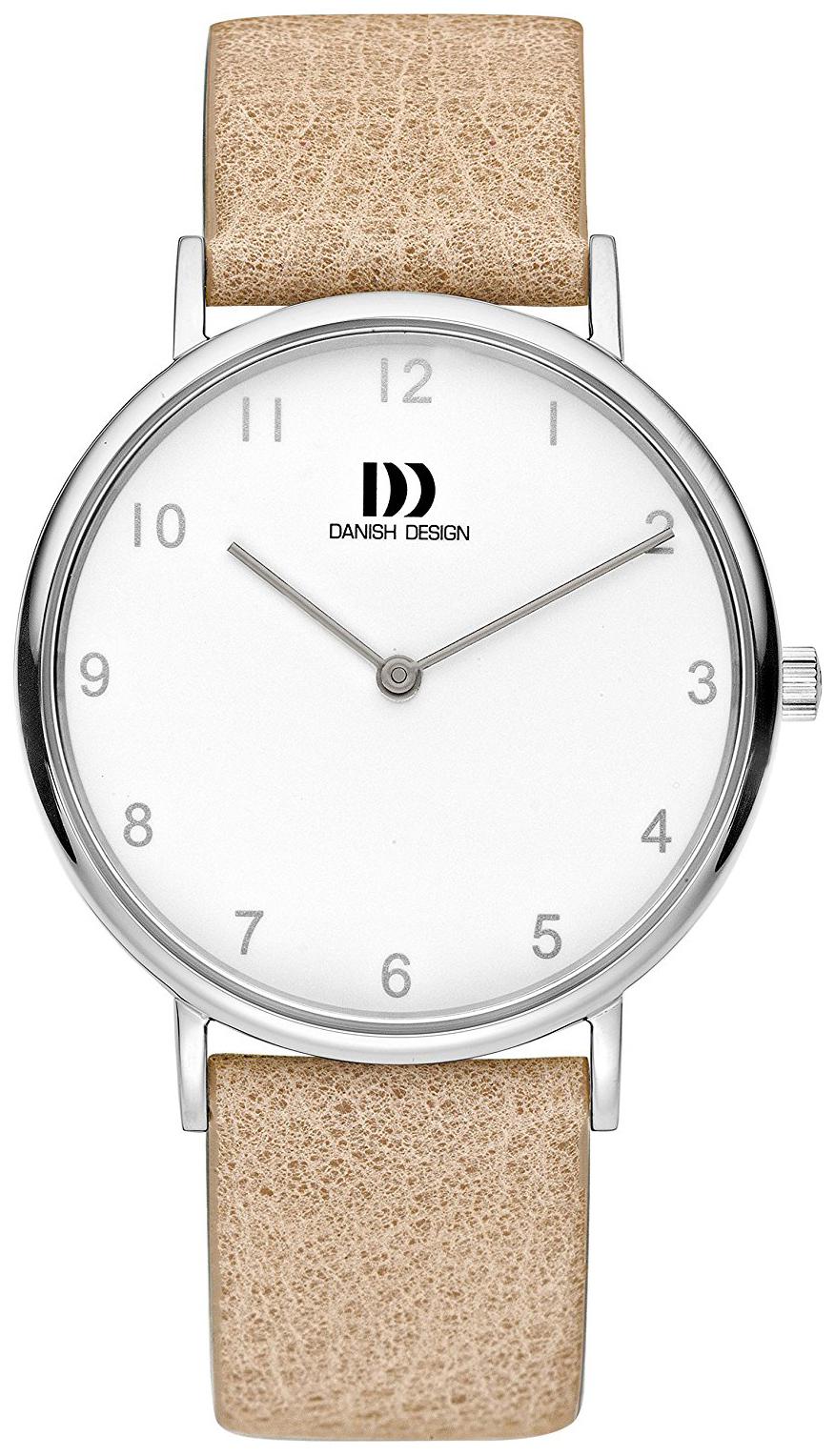 Danish Design Dress Dameklokke IV26Q1173 Hvit/Lær Ø36 mm - Danish Design