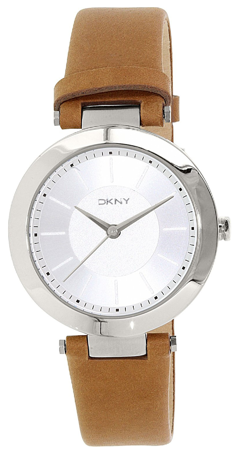 DKNY Dress Dameklokke NY2293 Sølvfarget/Lær Ø36 mm - DKNY