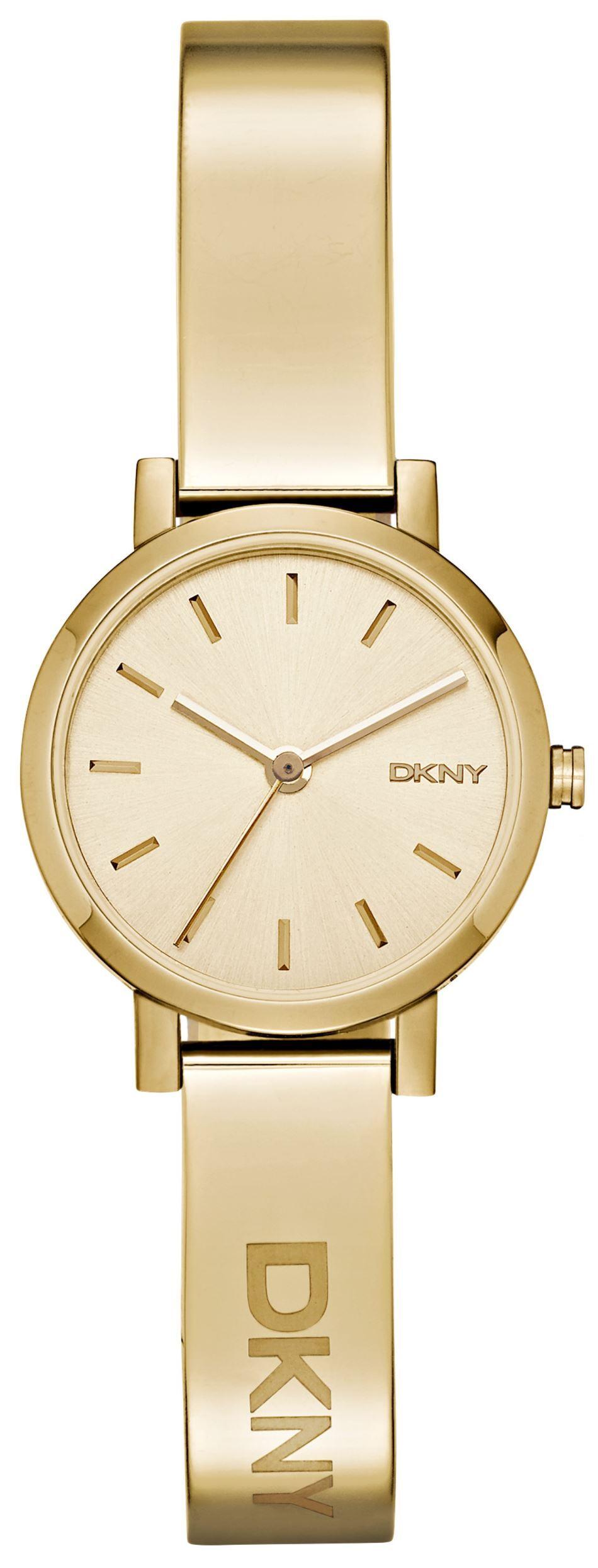 DKNY Dress Dameklokke NY2307 Champagnefarget/Gulltonet stål Ø24 mm - DKNY