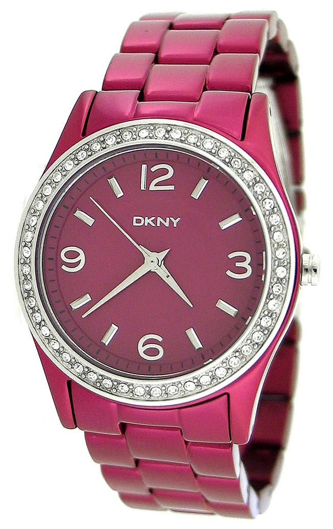 DKNY Glitz Dameklokke NY8309 Rosa Ø33.67 mm - DKNY