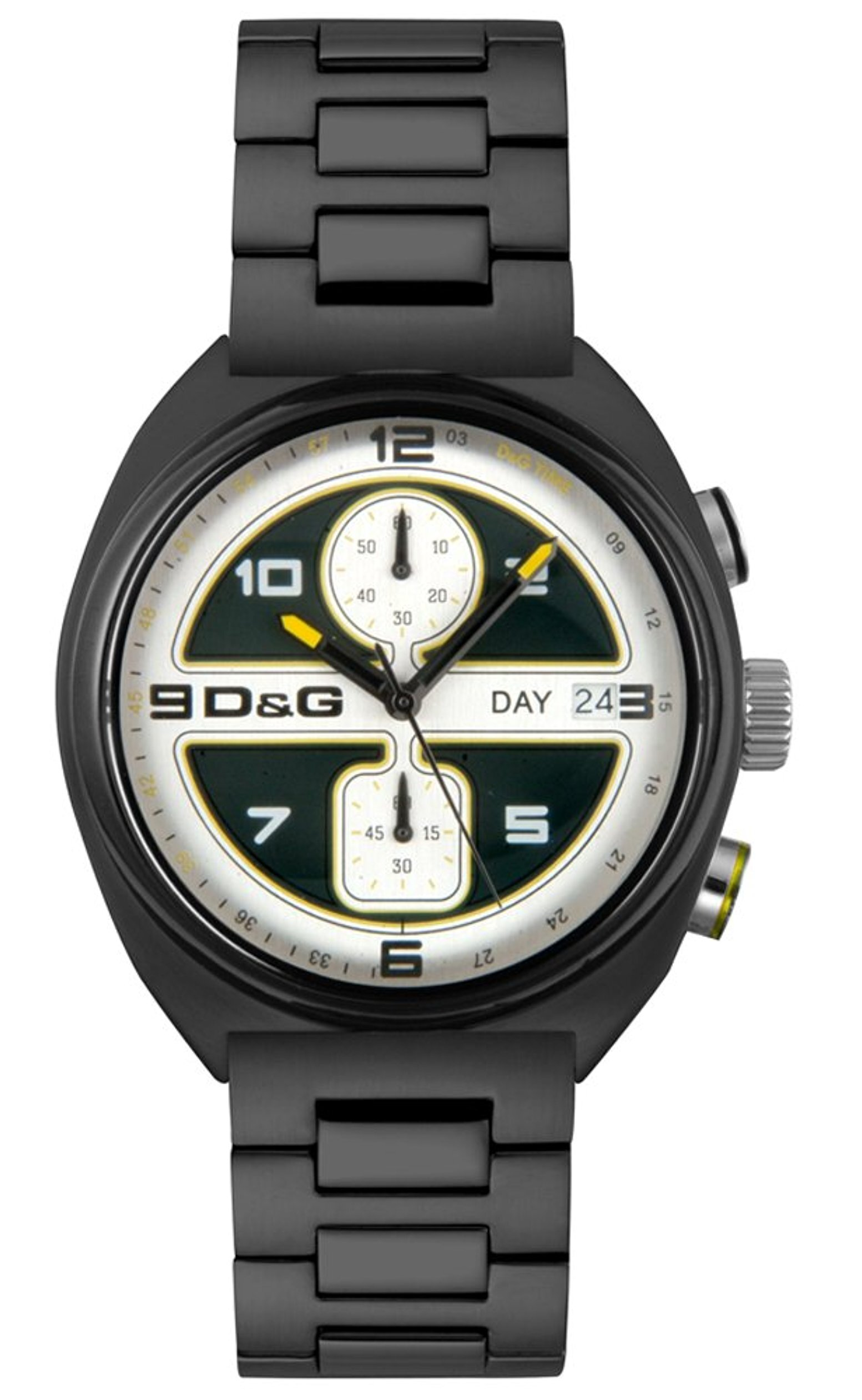 Dolce & Gabbana D&G Song Herreklokke DW0302 Sort/Stål Ø43 mm - Dolce & Gabbana D&G
