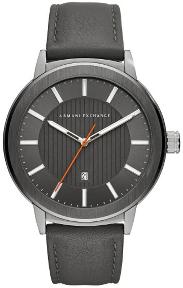 Emporio Armani Exchange Dress Herreklokke AX1462 Grå/Lær Ø46 mm - Emporio Armani