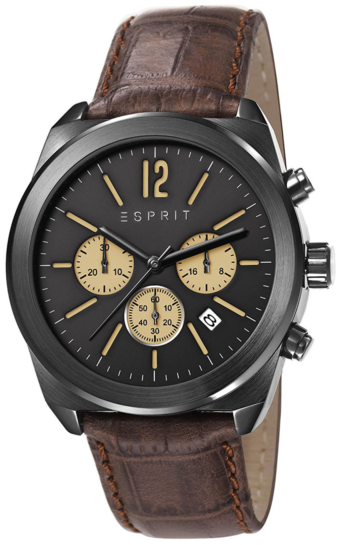 Esprit Sport Herreklokke ES107571003 Sort/Lær Ø41 mm - Esprit