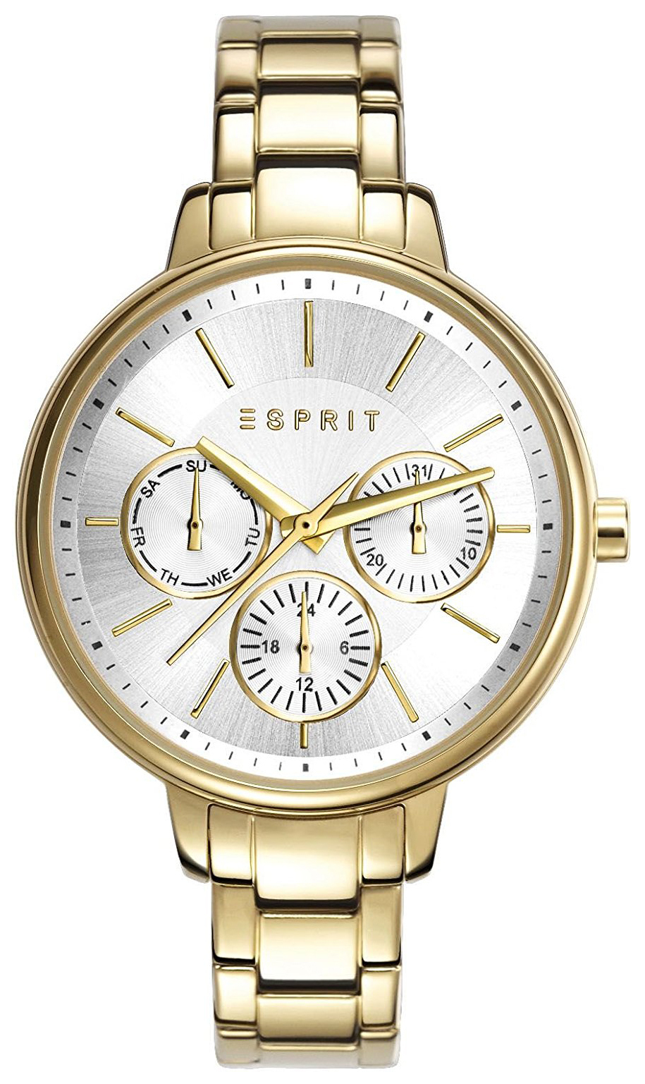Esprit 99999 Dameklokke ES108152006 Sølvfarget/Gulltonet stål Ø36 - Esprit