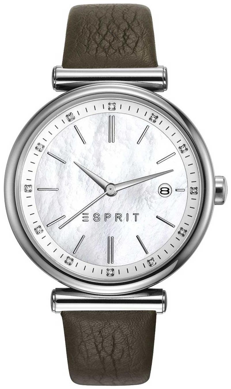Esprit Dress Dameklokke ES108542002 Hvit/Lær Ø36 mm - Esprit