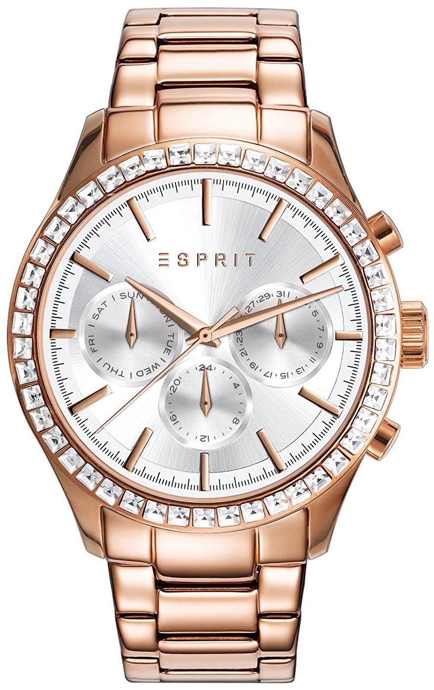 Esprit Sport Dameklokke ES109042003 Sølvfarget/Rose-gulltonet stål - Esprit