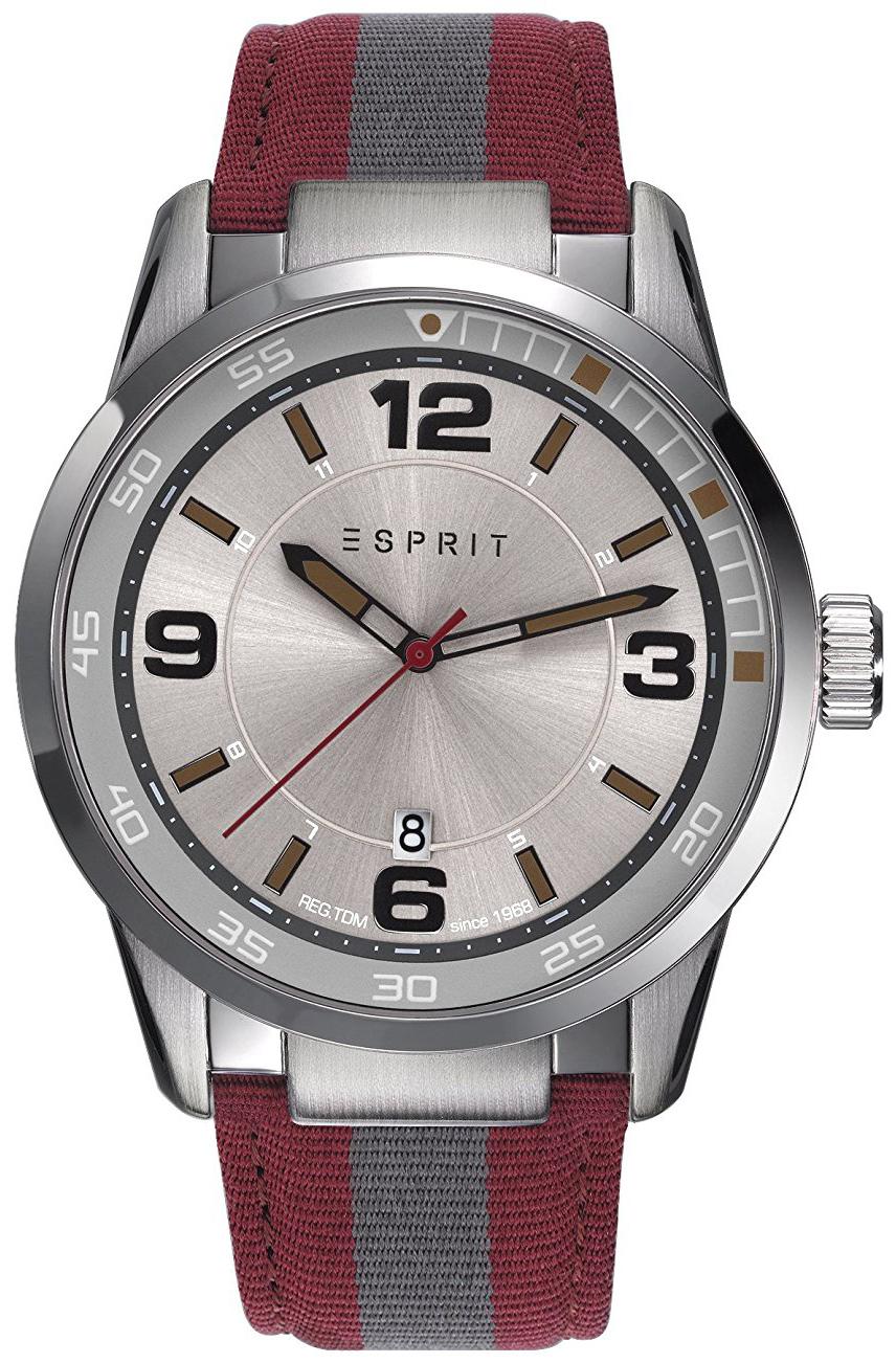 Esprit Dress Herreklokke ES109441001 Sølvfarget/Lær Ø45 mm - Esprit