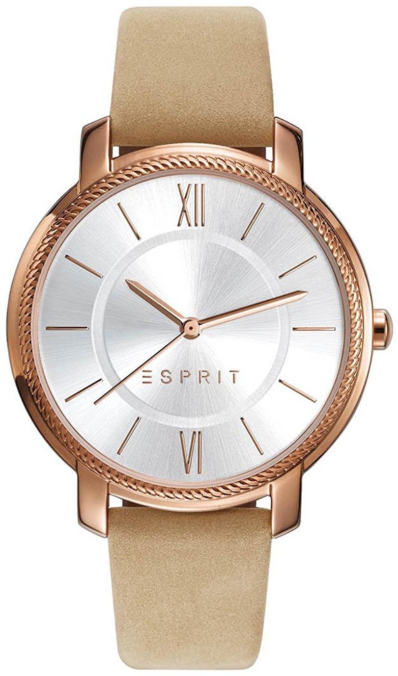 Esprit Dress Dameklokke ES109532002 Sølvfarget/Lær Ø36 mm - Esprit