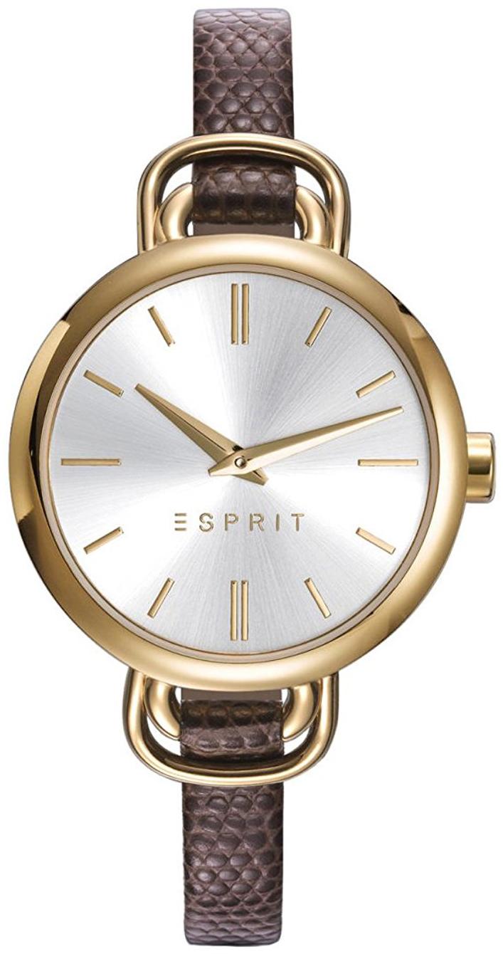 Esprit Dress Dameklokke ES109542002 Sølvfarget/Lær Ø32 mm - Esprit
