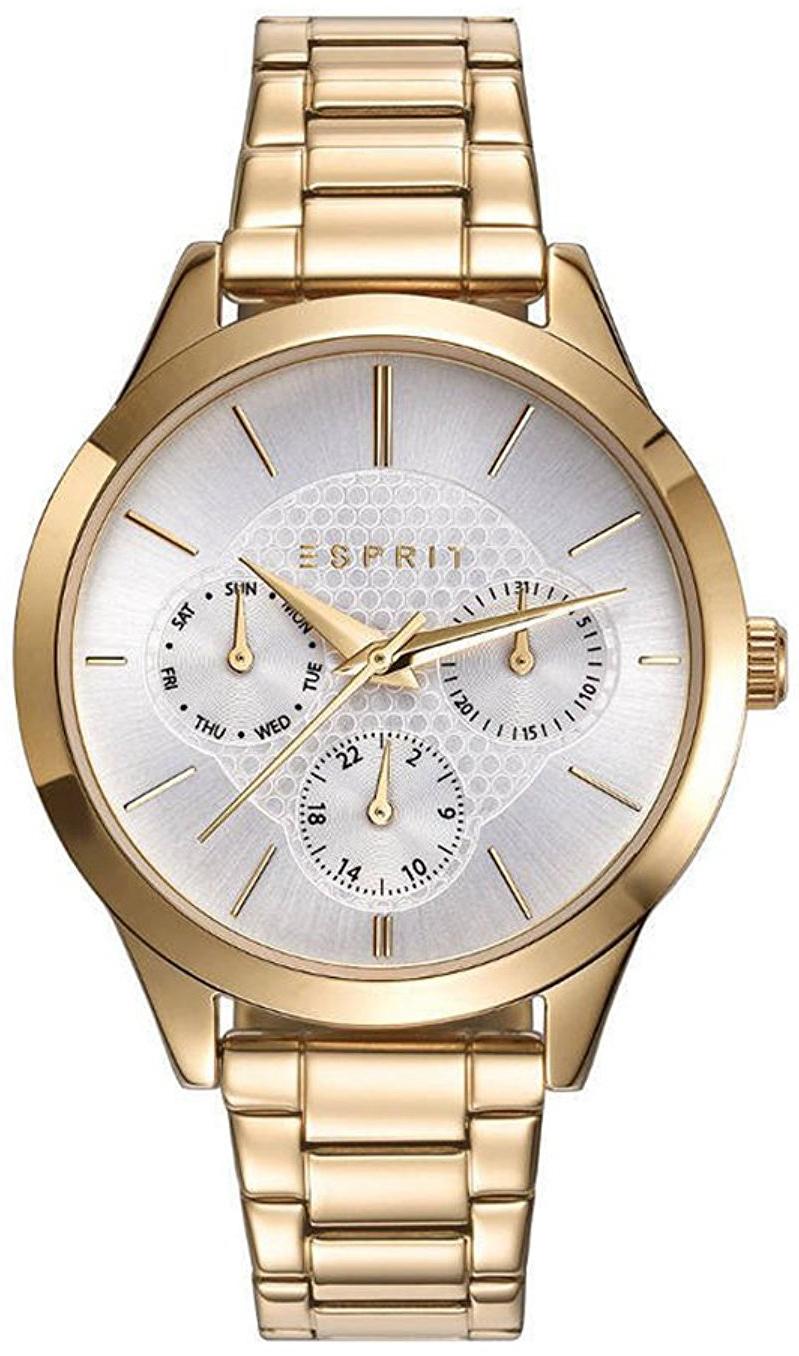 Esprit Sport Dameklokke ES109622002 Sølvfarget/Gulltonet stål Ø36 - Esprit