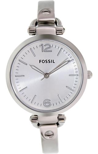 Fossil Georgia Dameklokke ES3083 Sølvfarget/Stål Ø32 mm - Fossil
