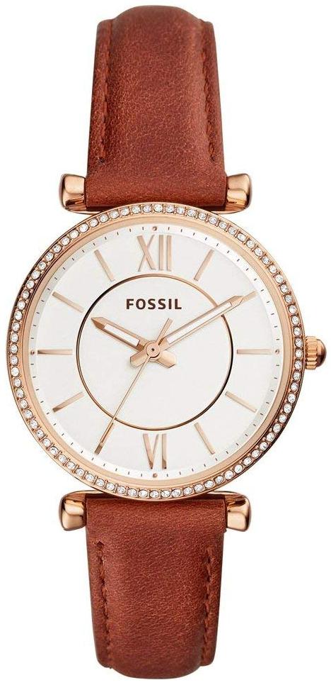 Fossil 99999 Dameklokke ES4428 Sølvfarget/Lær Ø35 mm - Fossil