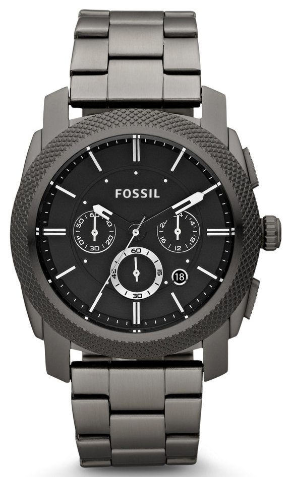 Fossil Machine Herreklokke FS4662 Sort/Stål Ø45 mm - Fossil