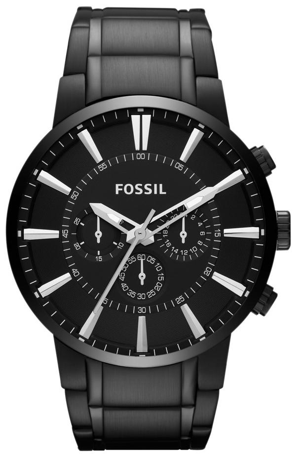 Fossil Chronograph Herreklokke FS4778 Sort/Stål Ø48 mm - Fossil
