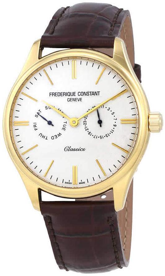 Frederique Constant Classics Herreklokke FC-259ST5B5 Sølvfarget/Lær - Frederique Constant