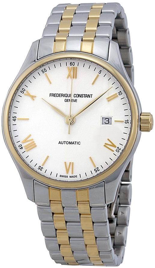 Frederique Constant Classics Herreklokke FC-303WN5B3B Hvit/Gulltonet - Frederique Constant