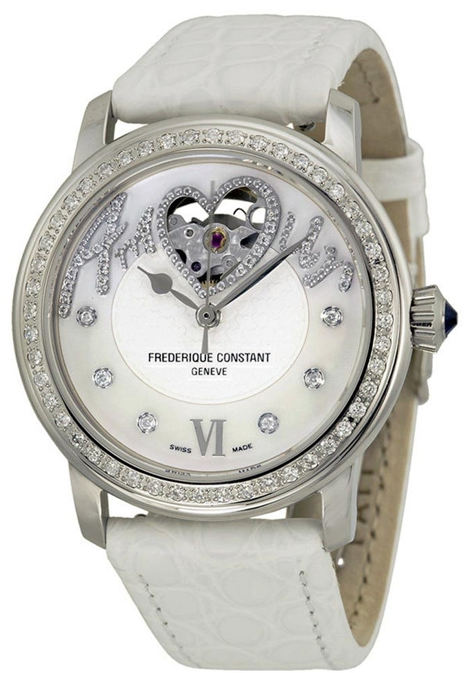 Frederique Constant Ladies Automatic Dameklokke FC-310SQ2PD6 Lær - Frederique Constant