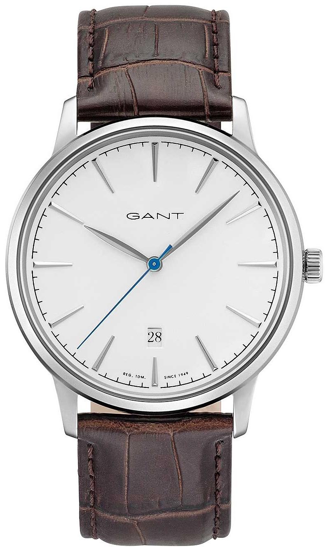 Gant Stanford Herreklokke GT020002 Hvit/Lær Ø42 mm - Gant