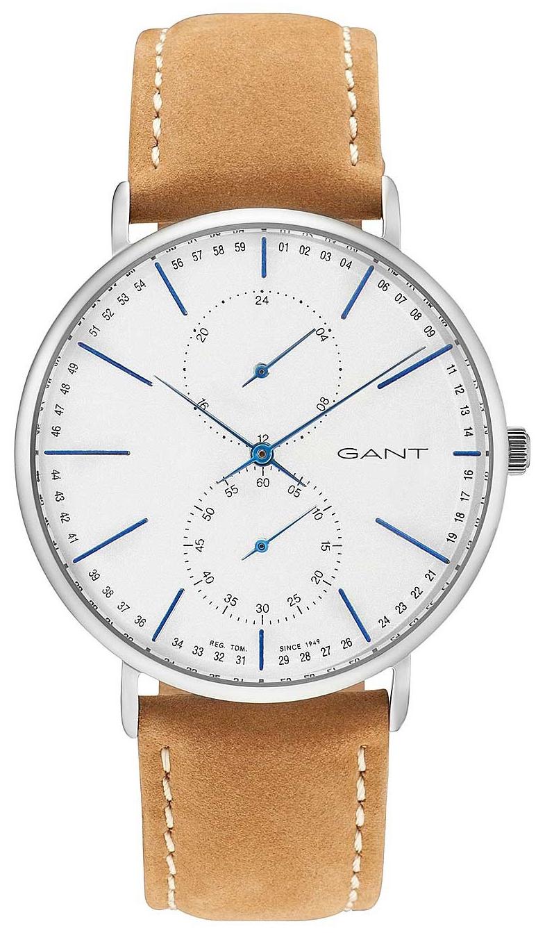 Gant 99999 Herreklokke GT036004 Sølvfarget/Lær Ø41 mm - Gant
