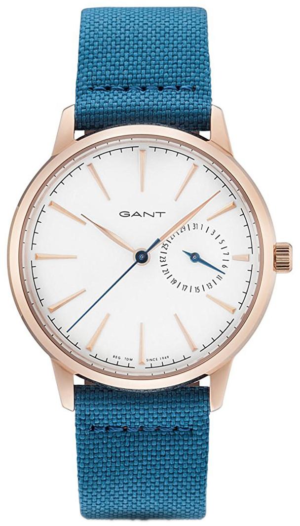 Gant Stanford Dameklokke GT049002 Hvit/Lær Ø36 mm - Gant