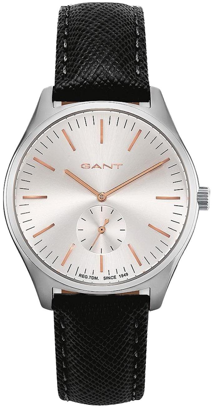 Gant 99999 Herreklokke GT062001 Sølvfarget/Lær Ø40 mm - Gant
