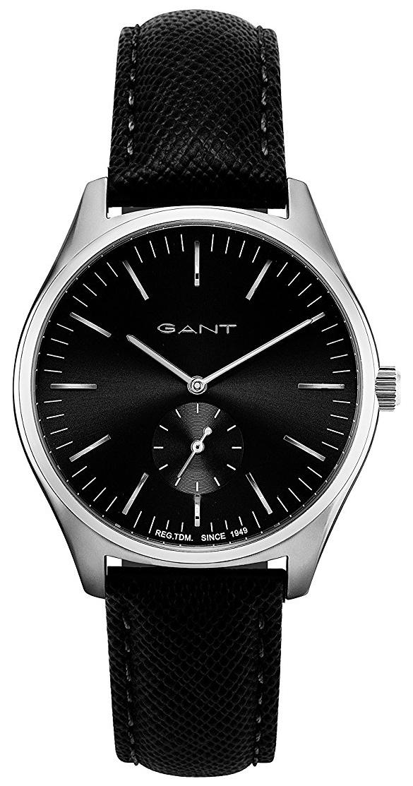 Gant 99999 Herreklokke GT062004 Sort/Lær Ø40 mm - Gant