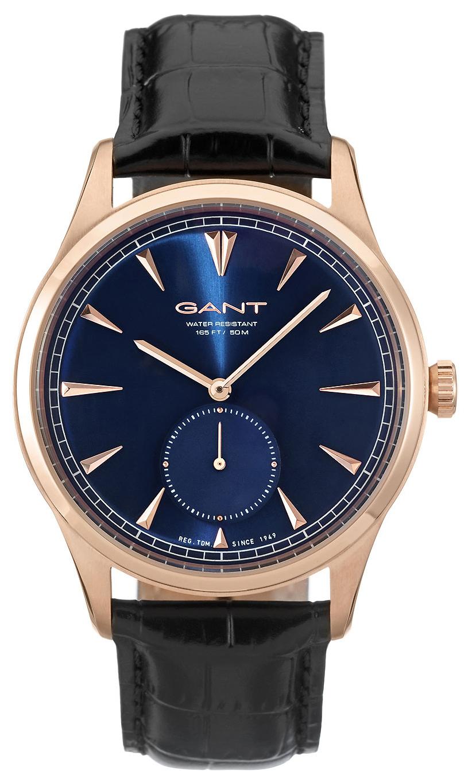 Gant 99999 Herreklokke W71005 Blå/Lær Ø42 mm - Gant