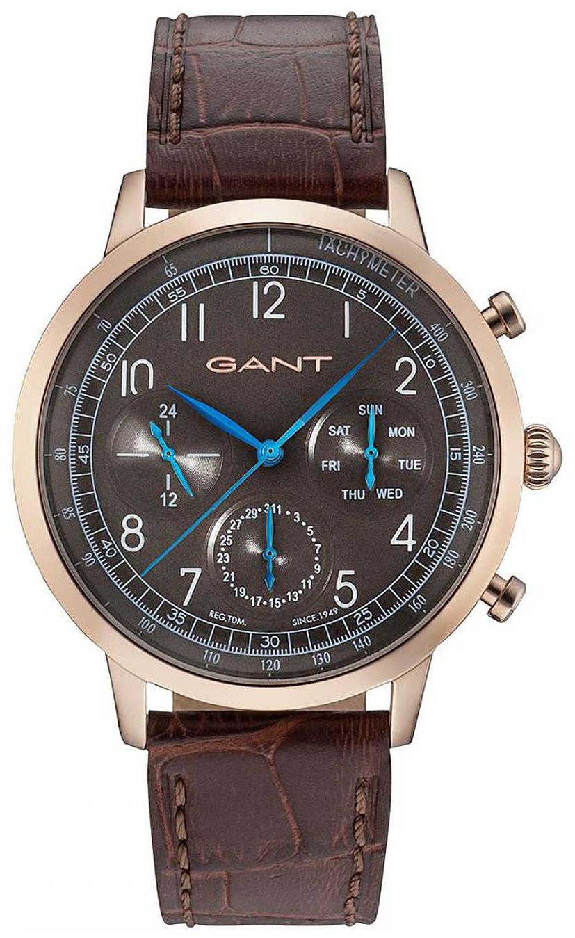 Gant 99999 Herreklokke W71204 Brun/Lær Ø42 mm - Gant