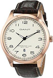 Gant 99999 Herreklokke W71303 Champagnefarget/Lær Ø44 mm - Gant