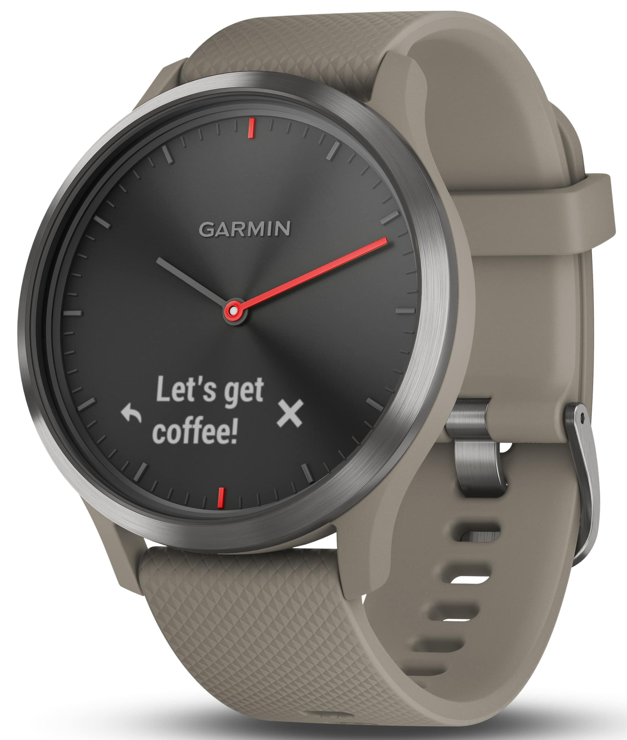 Garmin Vívomove HR 010-01850-03 Sort/Gummi Ø43 mm - Garmin