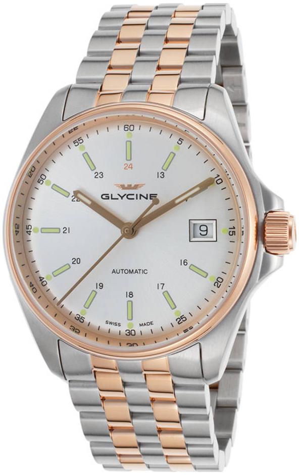 Glycine Combat GL0108 Sølvfarget/Rose-gulltonet stål Ø36 mm - Glycine